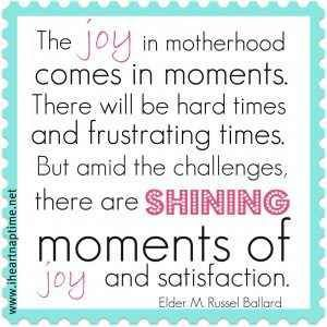 joy of motherhood